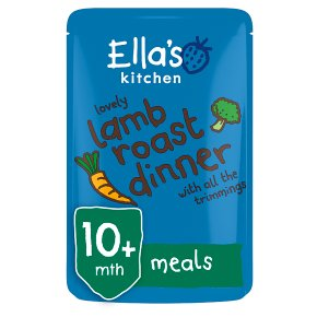 Ella's Kitchen Organic lovely lamb roast dinner with all the trimmings - stage 3 baby food