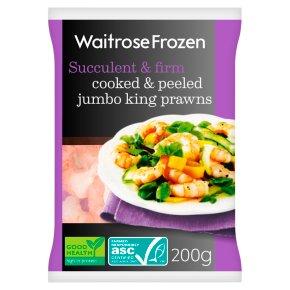 Waitrose Frozen Cooked & Peeled Jumbo King Prawns