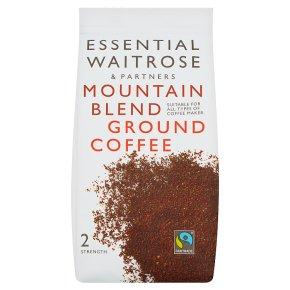 essential Waitrose mountain blend ground coffee