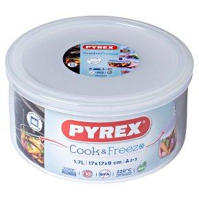 Pyrex Classic Glass Round Dish & Lid (1.6l)