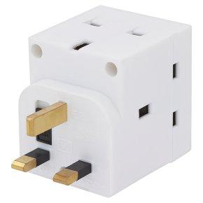 John Lewis 13 amp 3 way adaptor