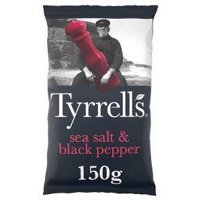 Tyrrells sea salt & black pepper potato chips