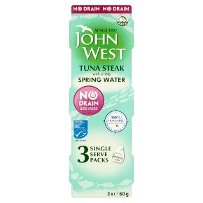 John West MSC No Drain Tuna Steak in Spring Water