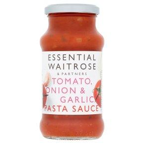 essential Waitrose Tomato, Onion & Garlic Pasta Sauce
