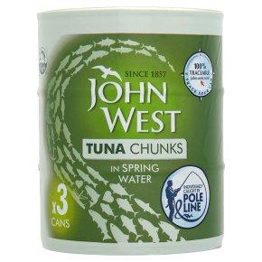 John West Tuna Chunks in Water Pole Line