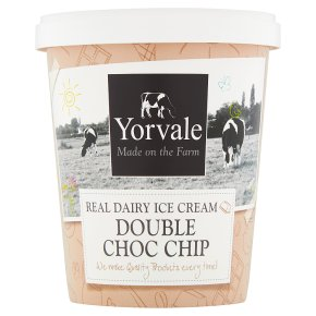 Yorvale ice cream double chocolate chip
