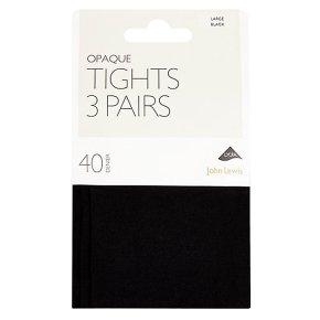 John Lewis 40 denier opaque navy tights (medium)