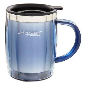 Thermos blue desk mug