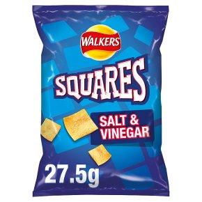 Walkers Squares salt & vinegar single crisps