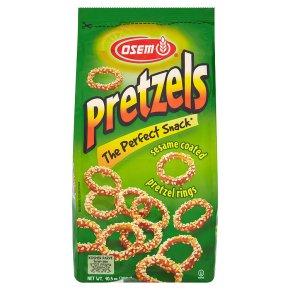 Osem sesame coated pretzel rings