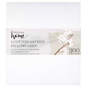 Waitrose Home Cotton Sateen Pillowcases