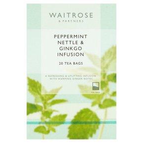Waitrose LoveLife 20 peppermint, nettle & ginkgo infusion tea bags
