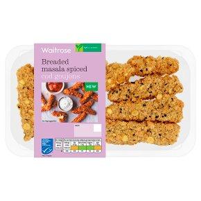 Waitrose Breaded Masala Spiced Cod Goujons