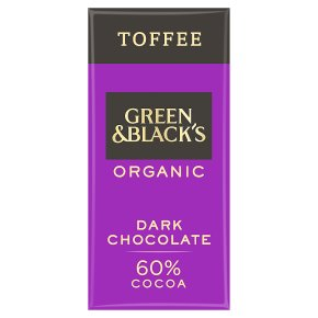 Green & Black's organic burnt toffee dark chocolate bar