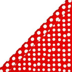 essential Waitrose 2m red spot giftwrap