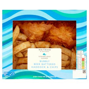 Waitrose Bubbly Beer Battered Haddock & Chips