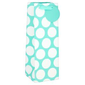 Waitrose Aqua Spot Bottle Bag