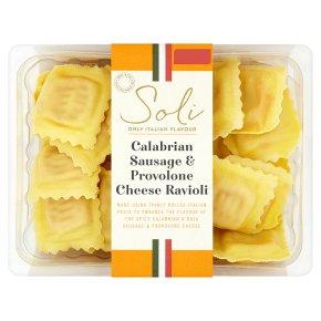Soli calabrian sausage & provolone cheese ravioli