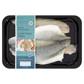 New England Seafood 4 Sea Bass Fillets