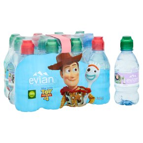 Evian natural mineral water with sports cap