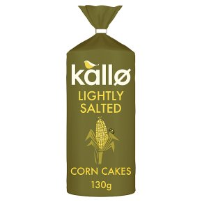 Kallo Corn Cakes Lightly Salted Wholegrain Low Fat