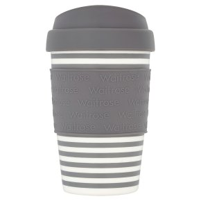 Waitrose Grey Stripe Coffee Cup