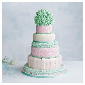 Tallulah 5 tier  Wedding Cake, Fruit (Base tier) & Lemon sponge (4 tiers)