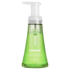 Method foaming h/wash grn tea/aloe