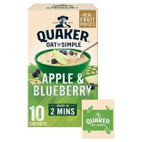 Quaker Oats So Simple apple & blueberry porridge cereal sachets