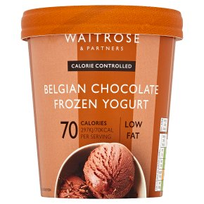 Waitrose LoveLife Calorie Controlled Belgian chocolate frozen yogurt