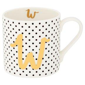 Waitrose 'W' Bone China Mug