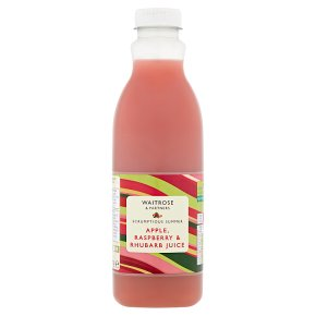 Waitrose apple, raspberry & rhubarb juice