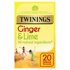 Twinings ginger & lime 20 tea bags