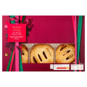 Waitrose Christmas all butter puff pastry mince pies