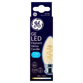 GE LED Filament Heliax Candle Gold