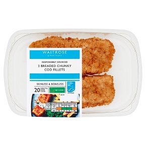 Waitrose Breaded Chunky Cod