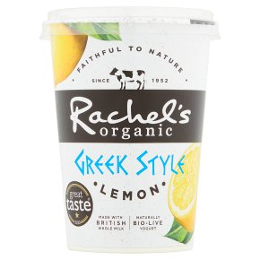 Rachel's organic Greek style lemon yogurt