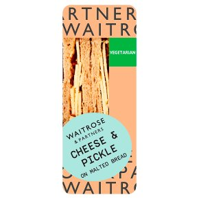 Waitrose Cheese & Pickle Sandwich
