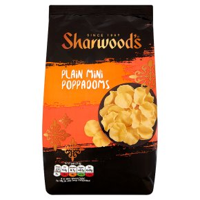 Sharwood's plain mini poppadoms