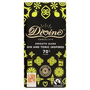 Divine Fairtrade 70% Dark Chocolate With Lemon & Juniper
