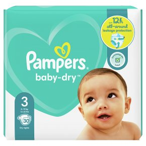 Pampers Baby Dry Size 3 Carry 30 Nappies