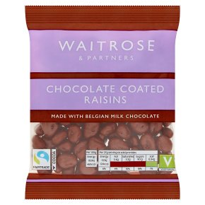 Waitrose Belgian chocolate raisins