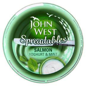 John West spreadables salmon yoghurt & mint