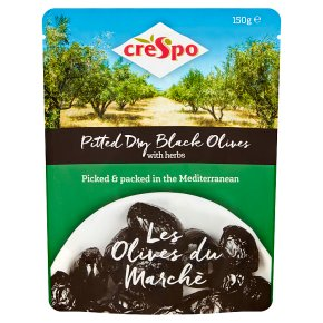 Crespo Pitted Dry Black Olives