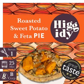 Higgidy Sweet Potato & Feta Pie with Pumpkin Seeds