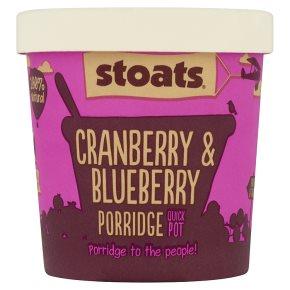 Stoats cranberry& blueberry porridge quick pot