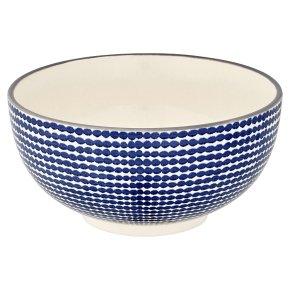 Waitrose Oriental Medium Bowl Blue Dot
