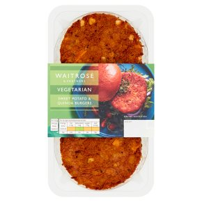 Waitrose Vegetarian Sweet Potato & Quinoa Burgers