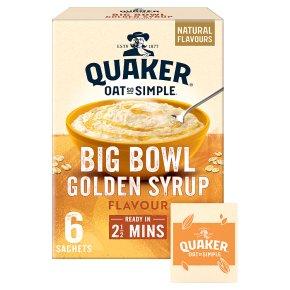 Quaker Oats So Simple Big Bowl golden syrup porridge cereal sachets