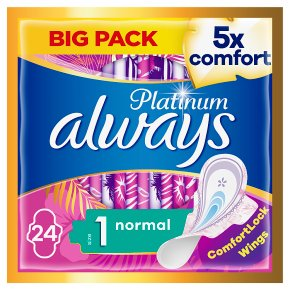 Always Platinum Pads Normal Size 1